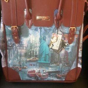 Nicole Lee Luggage Bag with Wheels